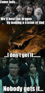 Hobbit Meme - smaug and the statue know your meme