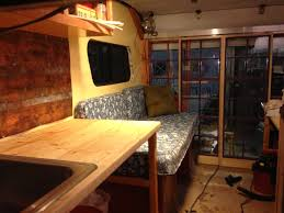 uhaul conversion with kitchen bath couch sleeping loft bath