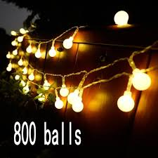 decoration lights for party 100m 800 led balls fairy string decorative lights battery operated