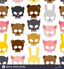 background for halloween skulls animal seamless pattern background for halloween snout