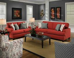 gray fabric convertible sleeper couch mixed with peach living room