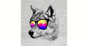 cool wolf wolf t shirt teepublic
