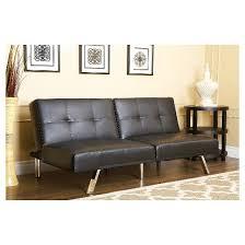 black convertible sofa mackenzie bonded leather convertible sofa black abbyson living