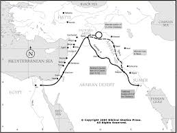 Biblical Map Of The Middle East by Net Bible Maps Bible Org