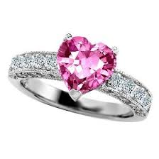 pink wedding rings my ring pink heart diamond would also take a pink heart