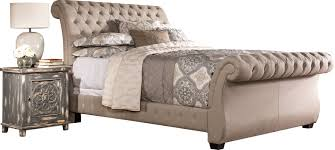 Slay Bed Frames Cyrano Upholstered Wood Frame Sleigh Bed Reviews Joss