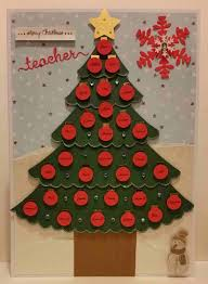 personalised teacher christmas card hand crafted with names of the