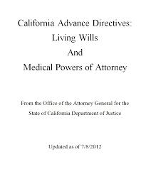 smashwords u2013 california advance directives living will and