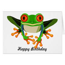 frog birthday greeting cards zazzle