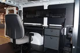 Dodge Ram Custom - dodge ram promaster mobile office with custom overhead hutch for