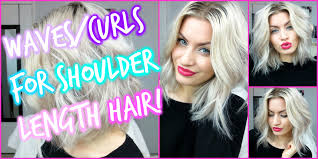 how to get loose curls medium length layers waves curls for shoulder length hair youtube