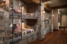 Built In Bunk Bed Sweet Rustic Built In Bunk Beds Is Sawn Flooring