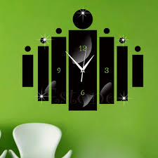 online buy wholesale luxury wall stickers from china luxury wall diy 3d home decoration modern crystal mirror quartz clock wall sticker luxury china mainland