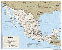 Mexican State Map by Nationmaster Maps Of Mexico 54 In Total