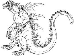 godzilla coloring pages online coloring pages online kids
