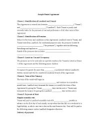 Reference Template For Landlord Sample Rental Agreement Leasehold Estate Landlord