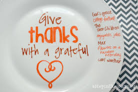 what to do in thanksgiving day give thanks a sharpie plate