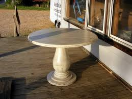 42 Inch Round Patio Table by Unfinished Wood Pedestal Table Base Bobreuterstl Com Pedestal