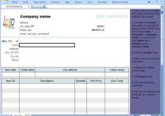 job work invoice format free invoice