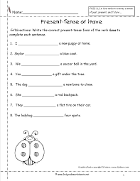 past present and future tense verbs worksheets ideas collection
