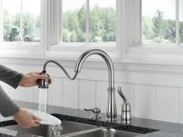 delta kate kitchen faucet delta faucet 978 sssd dst leland single handle pull down kitchen new