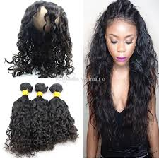 wet and wavy human hair weave hairstyles 9a water wave 360 pre plucked lace frontal with bundles wet and