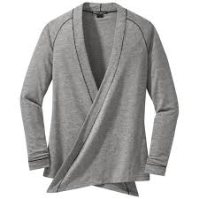wrap sweater top s athena wrap top pewter outdoor research