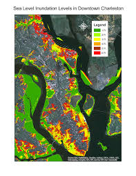 Charleston Sc Map Scbars Downtown Charleston Map 6 Feet Sea Level Rise U2013 Will Boone