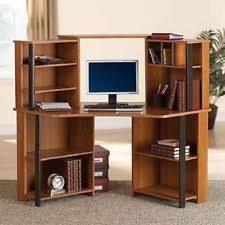 Realspace Magellan Corner Desk And Hutch Bundle Cherry Corner Desks L Shaped Desks U0026 Home Office Furniture Ebay