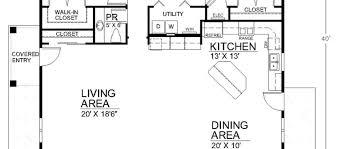 Open Floor Plan Small House Small House Design Open Floor Plan House Plans Covered Patio Home