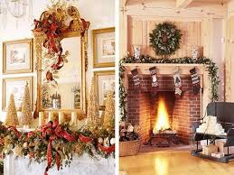 impressive decoration fireplace christmas decorations for