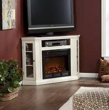 furniture white corner electric fireplace media center with