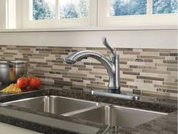Kitchen Faucets Single Handle With Sprayer Brushed Nickel Single Hole Delta Linden Kitchen Faucet Two Handle