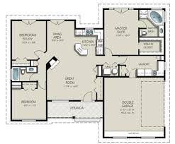 Single Story House Plans With 2 Master Suites Well Suited Design 1 1500 Square Foot Single Story House Plans One