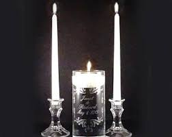 personalize candles custom unity candle etsy