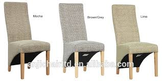 Wicker High Back Dining Chair Barclay Fabric Cover Wood Frame Modern High Back Dining Chair