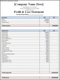 Project Profit And Loss Template Excel Profit And Loss Statement Template Free Formats Excel Word