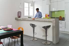 comptoir de la cuisine comptoir bar cuisine cuisine et blanche au style design