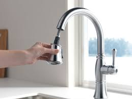 Single Handle Pull Down Kitchen Faucet by Delta Cassidy Single Handle Pull Down Kitchen Faucet With Spray