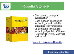 rosetta stone yearly subscription opportunity for life welcome bienvenidos duke talent