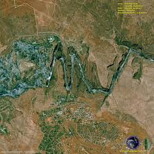 Victoria Falls Map Satellite Image Of Victoria Falls Zambia And Zimbabwe Satellite