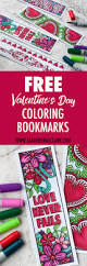 free printable valentine u0027s day coloring bookmarks