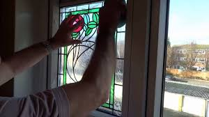 stained glass for front door applying peels of london stained glass window film to your window