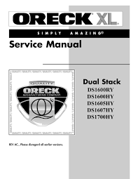 oreck dual stack service manual