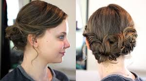 length hairstyles updo easy updo for length hair youtube