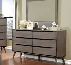 Gray Bedroom Dressers Cm7683gy Lennart Gray Bedroom Collection Wooden Headboard