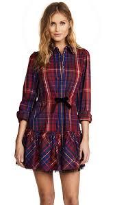 hilfiger collection tartan midi shirtdress shopbop save up to 30