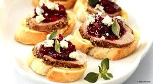 dining canapes recipes canapes a recipe for canapes with roast pork