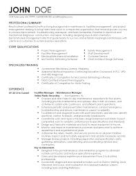 Maintenance Sample Resume Military Maintenance Sample Resume Loses Advice Cf