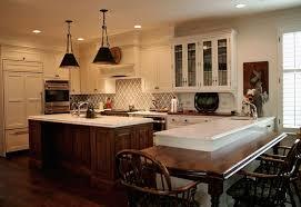captivating dark oak kitchen island with river white granite